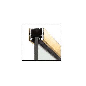 """Polished Brass 120"""" U-Channel with Roll-In Top Load Gasket"""