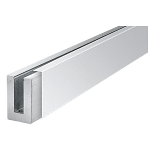 "CRL BSCPS10 Polished Stainless 120"" Cladding for B5S Series Standard Square Aluminum Base Shoe"