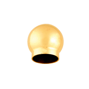 "CRL HR15BPB Polished Brass 2-5/8"" Ball Type End Cap for 1-1/2"" Tubing"