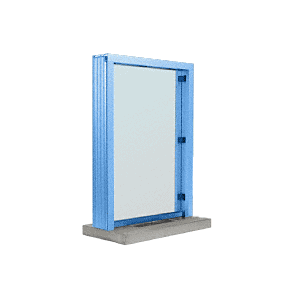 "CRL N11W12P Painted (Specify) Aluminum Narrow Inset Frame Interior Glazed Exchange Window with 12"" Shelf and Deal Tray"