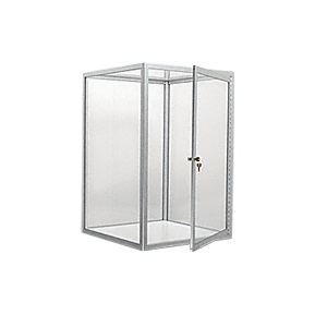 CRL D4041A Satin Anodized Custom Size Avalon Showcase with Hinged Door on One End
