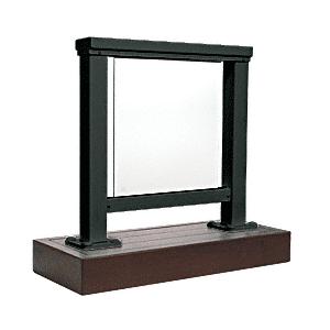 CRL ARS2SBL Matte Black 200 Series Aluminum Glass Railing System Small Showroom Display
