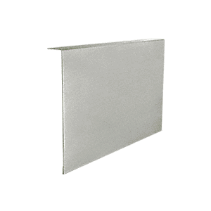 """CRL THC1BSC Brushed Stainless Clad 1"""" x 7-1/4"""" Custom 'L' Cover for Top Hung Track"""
