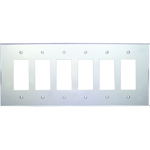 CRL PMP602 Clear Six Gang Acrylic Mirror Plate