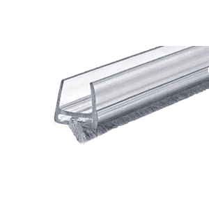 CRL CW12 Clear Polycarbonate Wipe with Pile Weatherstrip