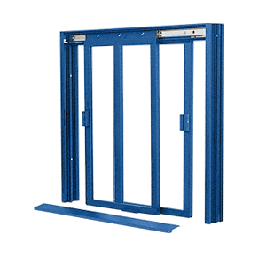 CRL DW4200P Custom Color Powder Painted DW Series Two Panel Manual Deluxe Sliding Service Window XX Without Screen