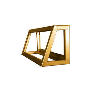 CRL D4350GA Gold Anodized Custom Size Newport Slant Front Showcase Frame