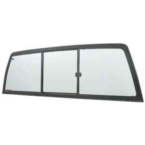 CRL ETRV660B Tri-Vent Three Panel Slider with Clear Glass for 1998+ Nissan Frontier