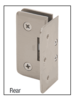 CRL-USALUM ALUM-PET044WC-VCP-1 White with Chrome Accent Petite 044 Series Wall Mount Offset Back Plate Hinge