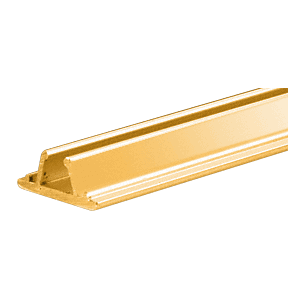 Brite Gold Anodized Aluminum Showcase Connector Strips
