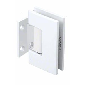 White With Chrome Center Block Geneva 074 Series Wall Mount Short Back Plate Hinge