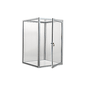 CRL D4040BA Brite Anodized Custom Size Avalon Showcase with Single Front Hinged Door