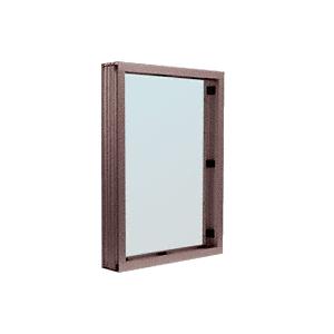 CRL S1V1DU Duranodic Bronze Aluminum Standard Inset Frame Interior Glazed Vision Window