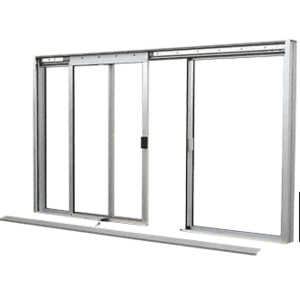 CRL DW2600A Satin Anodized DW Series Manual Deluxe Sliding Service Window OXO without Screen