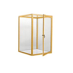 CRL D4042GA Gold Anodized Custom Size Avalon Showcase with Hinged Door on Two Ends