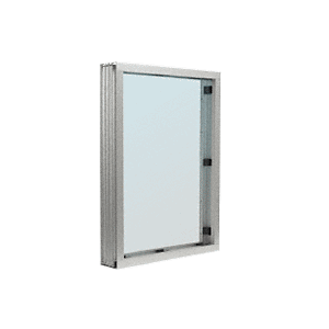 CRL S1V1A Satin Anodized Aluminum Standard Inset Frame Interior Glazed Vision Window