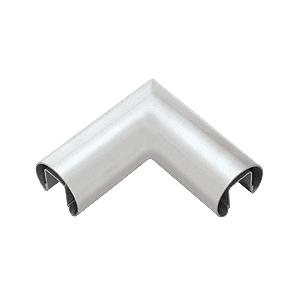 """CRL GR19HM Mill Finish 1.9"""" Diameter 90 Degree Horizontal Corner for 1/2"""" or 5/8"""" Glass Cap Railing"""