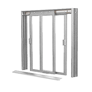 CRL DW4200A Satin Anodized DW Series Two Panel Manual Deluxe Sliding Service Window XX Without Screen