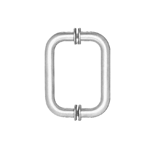 CRL P1NS3CH Polished Chrome Pinnacle Shower Pull and Hinge Set