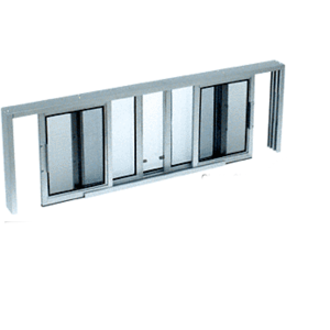 "CRL SW5612A Satin Anodized Horizontal Sliding Service Window XOX Format With 1/2"" Insulating Glass With Screen"