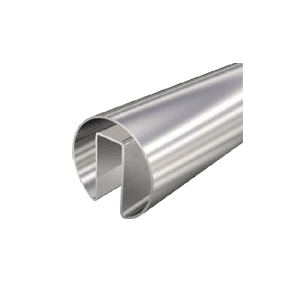 "CRL GRRF15PS Polished Stainless 1-1/2"" Roll Form Cap Rail - 19'-8"""