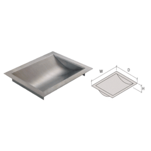 "d Stainless Steel Countertop Deal Tray x 10/"" w 12/"" Brushed Finish"