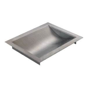 "Brushed Stainless Steel Standard Drop-In Deal Tray, 16"" Wide X 10"" Deep X 1-9/16"" High"