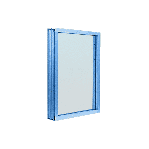 CRL N1VEP Custom Powder Painted Aluminum Narrow Inset Frame Exterior Glazed Vision Window