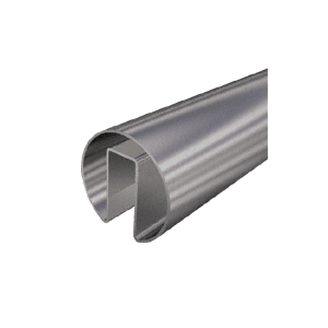 "CRL GRRF15BS Brushed Stainless 1-1/2"" Roll Form Cap Rail - 19'-8"""