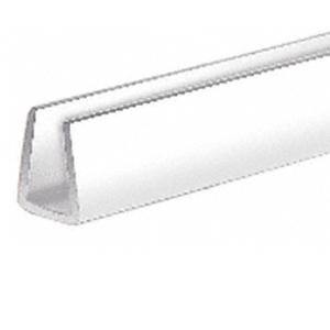 """CRL D720W White 1/4"""" Plastic Edge Molding"""