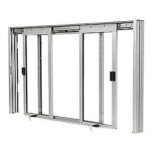 CRL DW5000A Satin Anodized DW Series Manual Deluxe Sliding Service Window XOX Without Screen