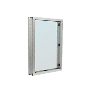 Satin Anodized Aluminum Narrow Inset Frame Interior Glazed Vision Window
