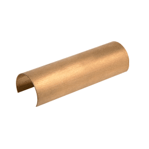 "Satin Brass Connector Sleeve for 1-1/2"" Cap Railings, Cap Rail Corners, and Hand Railing"