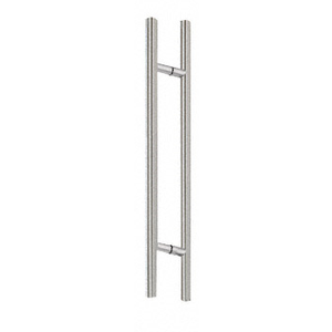 "CRL 60LPBS Brushed Stainless 60"" Extra Length Ladder Style Back-to-Back Pull"