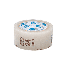 "CRL AFT112CW Clear 1-1/2"" Air-Flow Molding Retention Tape - With Warning"