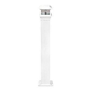 "CRL PCL1W Sky White Decorative Cap Light for 4"" x 4"" Vertical Aluminum Post"
