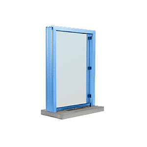 "CRL S11W12P Powder Painted (Specify) Aluminum Standard Inset Frame Interior Glazed Exchange Window with 12"" Shelf and Deal Tray"