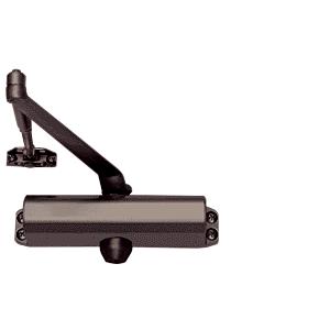 CRL PR80DU Dark Bronze Adjustable Spring Power Size 2 to 5 Surface Mount Door Closer