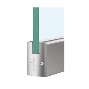 """CRL DR2SBS12S Brushed Stainless 1/2"""" Glass Low Profile Square Door Rail Without Lock - 35-3/4"""" Length"""