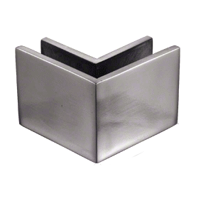 "CRL MFC23 2-1/2"" x 2"" Brushed Stainless 90 Outside Corner Mall Front Clamp"