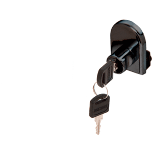CRL LK12 Black Cabinet Lock for Hinged Glass Door - Randomly Keyed