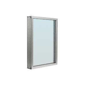 Satin Anodized Aluminum Narrow Inset Frame Exterior Glazed Vision Window