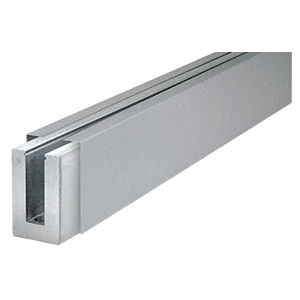 CRL B5SDBSC Custom Aluminum Square Base Shoe With Brushed Stainless Cladding and Drilled With Hole Pattern D