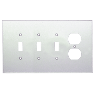 CRL PMP420 Clear Single Duplex and Triple Toggle Combo Acrylic Mirror Plate