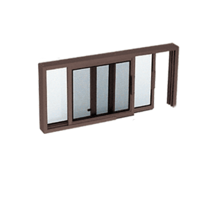 "CRL SW1800DU Duranodic Bronze Horizontal Sliding Service Window XO or OX Format with 1/8"" or 1/4"" Vinyl Only - No Screen"