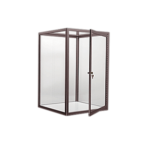CRL D4043DU Duranodic Bronze Custom Size Avalon Showcase with Double Hinged Front Doors