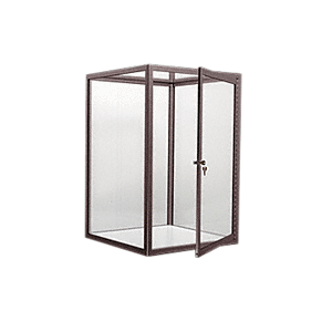 CRL D4041DU Duranodic Bronze Custom Size Avalon Showcase with Hinged Door on One End