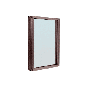 CRL N1VEDU Duranodic Bronze Aluminum Narrow Inset Frame Exterior Glazed Vision Window