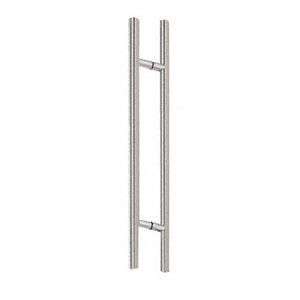 "Brushed Stainless 24"" Extra Length Ladder Style Back-to-Back Pull"