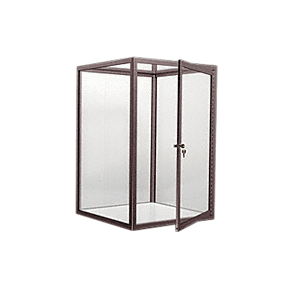 CRL D4042DU Dark Bronze Custom Size Avalon Showcase with Hinged Door on Two Ends